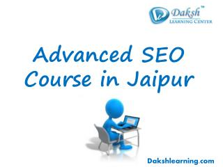 Advanced SEO Training Classes in Jaipur