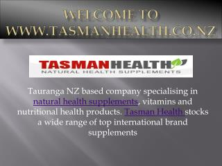 Buy Health Supplements -TasmanHealth.co.nz