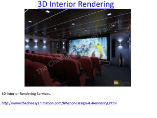 3D Interior Rendering And Design