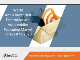 World Anti-Counterfeit Electronics and Automobiles Packaging