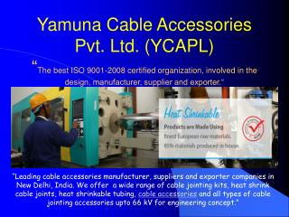 Power Cable Accessories Manufacturer India