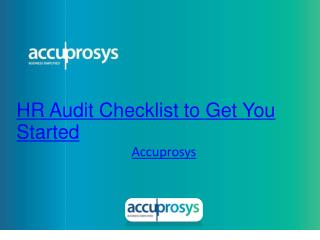 HR Audit Checklists to Get you Strted