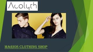 Online Marios Clothing Shop