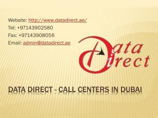 Call Centers in Dubai