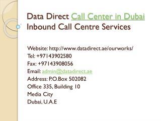 Call Center in Dubai