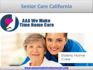 Senior Care California