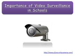 Importance of Video Surveillance in Schools