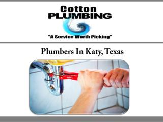 Plumbers In Katy, Texas