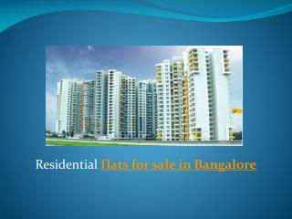 Residential flats for sale in Bangalore