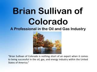 Brian Sullivan of Colorado
