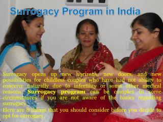 8 Things you should know about surrogacy Program in india