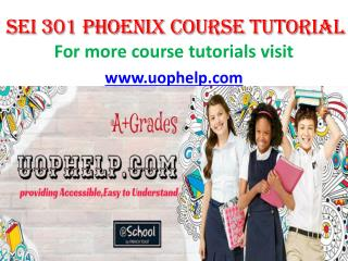 SEI 301 UOP COURSE Tutorial/UOPHELP