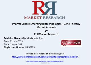 Emerging Biotechnologies - Gene Therapy Market Analysis