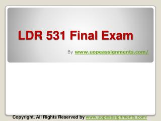 LDR 531 Final Exam Answers UOP Course