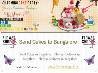 Send Cakes to Bangalore, Flowers Delivery in Bangalore, Flor