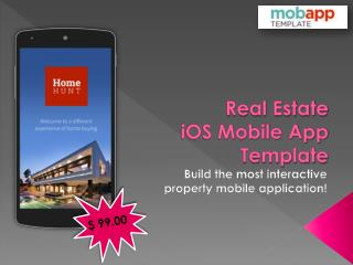 Real Estate iOS Mobile App Template - Only at $99