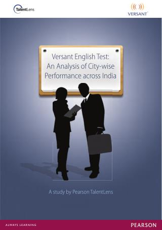 Pearson Talentlens - Versant English Test for India