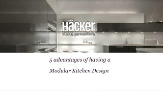 5 Advantages of Modular Kitchen Design