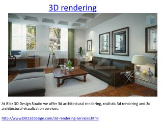3D Rendering Services, Architectural , Visualization Compan