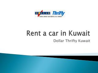 Rent a car in Kuwait