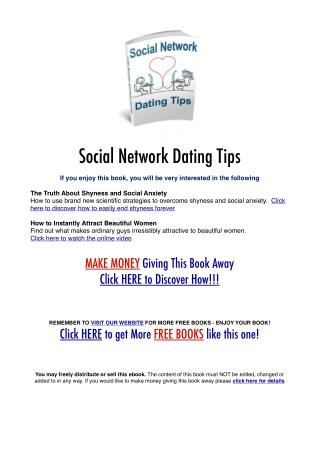 Social Network Dating Secrets
