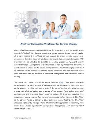 Electrical Stimulation Treatment for Chronic Wounds