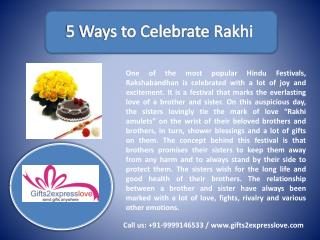 Send Rakhi to India | Rakhi Gifts 2015 -G2EL