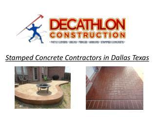 Stamped Concrete Contractors in Dallas Texas