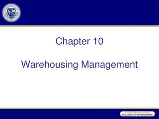Chapter 10 Warehousing Management