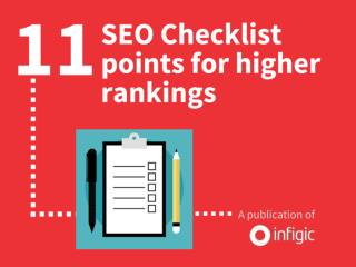 11 SEO checklist points for higher rankings
