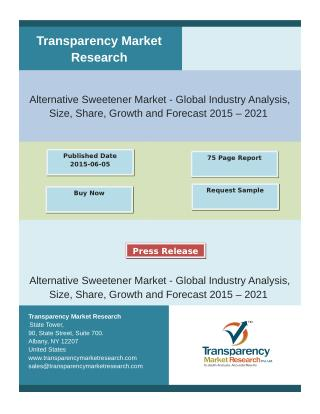 Alternative Sweetener Market is expected to reach USD 15,466