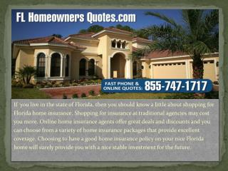 Discounts on Florida Home Insurance