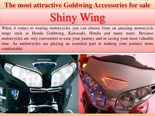 The most attractive Goldwing Accessories for sale