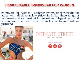 Designer Swimwear for Women at Intimate Street