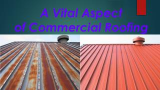 A Vital Aspect of Commercial Roofing
