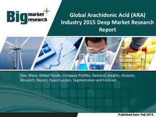 Global Arachidonic Acid (ARA) Industry-Size, Share, Trends
