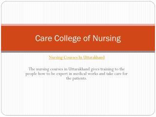 Nursing College In Uttarakhand