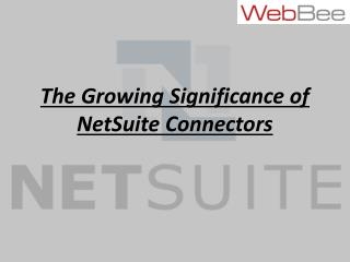 The Growing Significance of NetSuite Connectors