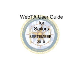 WebTA User Guide for Sailors