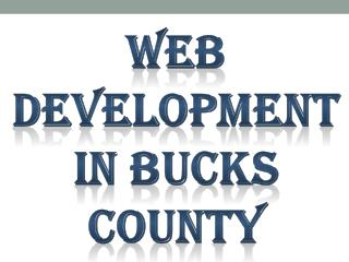 Web Development In Bucks County