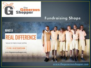 Shop for Donation with Thegenerousshopper.com