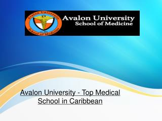 Avalon University - Top medical school in Caribbean