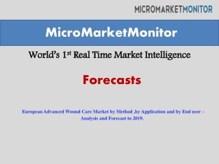 European Advanced Wound Care Market by Method ,by Applicatio