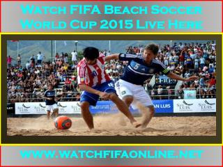 Live FIFA Beach Soccer World Cup Webstream