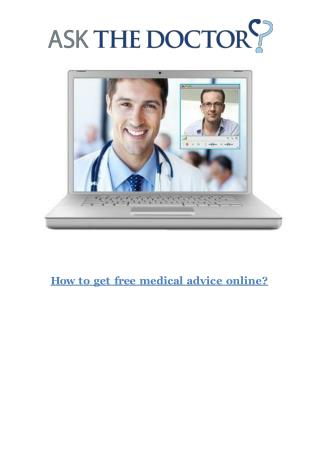 How To Get Free Medical Advice Online