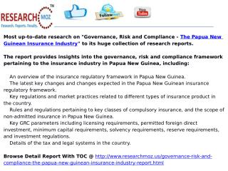 Governance, Risk and Compliance - The Papua New Guinean Insu