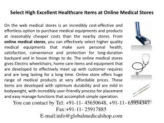 Medical Stores - Online Medical Products - Medical Shop
