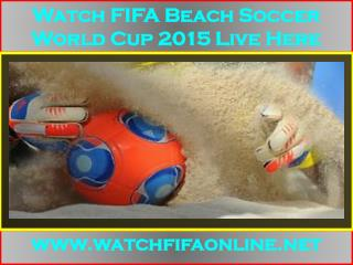 FIFA Beach Soccer World Cup Live On MY pc