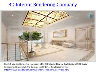 3D Interior Rendering And  Design Company