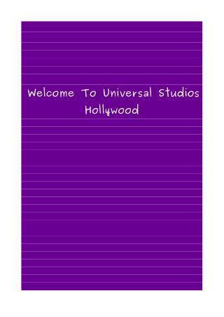 Tips for Universal Studios Hollywood